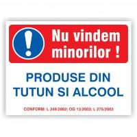 indicatoare nu vindem minorilor produse din tutun si alcool