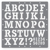 sablon cu litere si cifre
