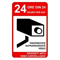 indicatoare pentru proprietati supravegheate video