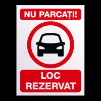 indicatoare pentru loc rezervat in parcare