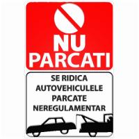 indicatoare pentru parcare neregulamentara