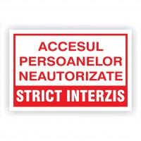 indicatoare pentru strict interzis