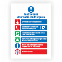 indicatoare instructiuni in caz de incendiu