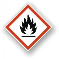 etichete cu simbolul de pericol lumina / Extrem de inflamabil