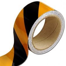 benzi reflectorizante adezive galben cu negru