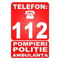 indicatoare cu numarul de urgenta politie,salvare si politie