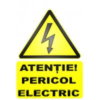 indicatoare de avertizare pericol de electrocutare