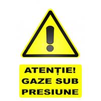 indicatoare atentie gaze sub presiune