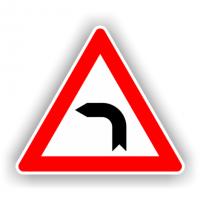 indicatoare pentru curba la stanga