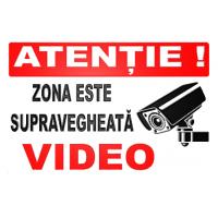 indicatoare atentie zona este supravegheata video