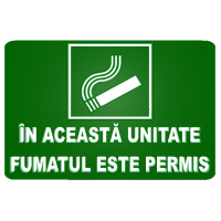 indicatoare in aceasta unitate fumatul este permis
