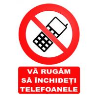 indicatoare va rugam sa inchideti telefoanele