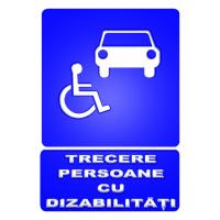 indicatoare pentru trecerea persoanelor cu dizabilitati