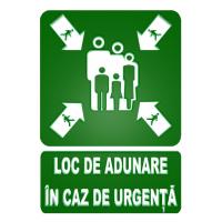 indicatoare pentru loc de adunare in caz de urgenta