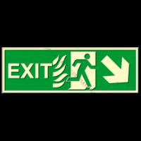 indicatoare fotoluminiscente pentru exit